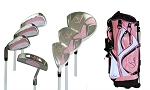 Sephlin - Lady  Charity  *7*  Pieces Left Hand Golf Clubs Set & Golf Bag   Girls Ages 6-10